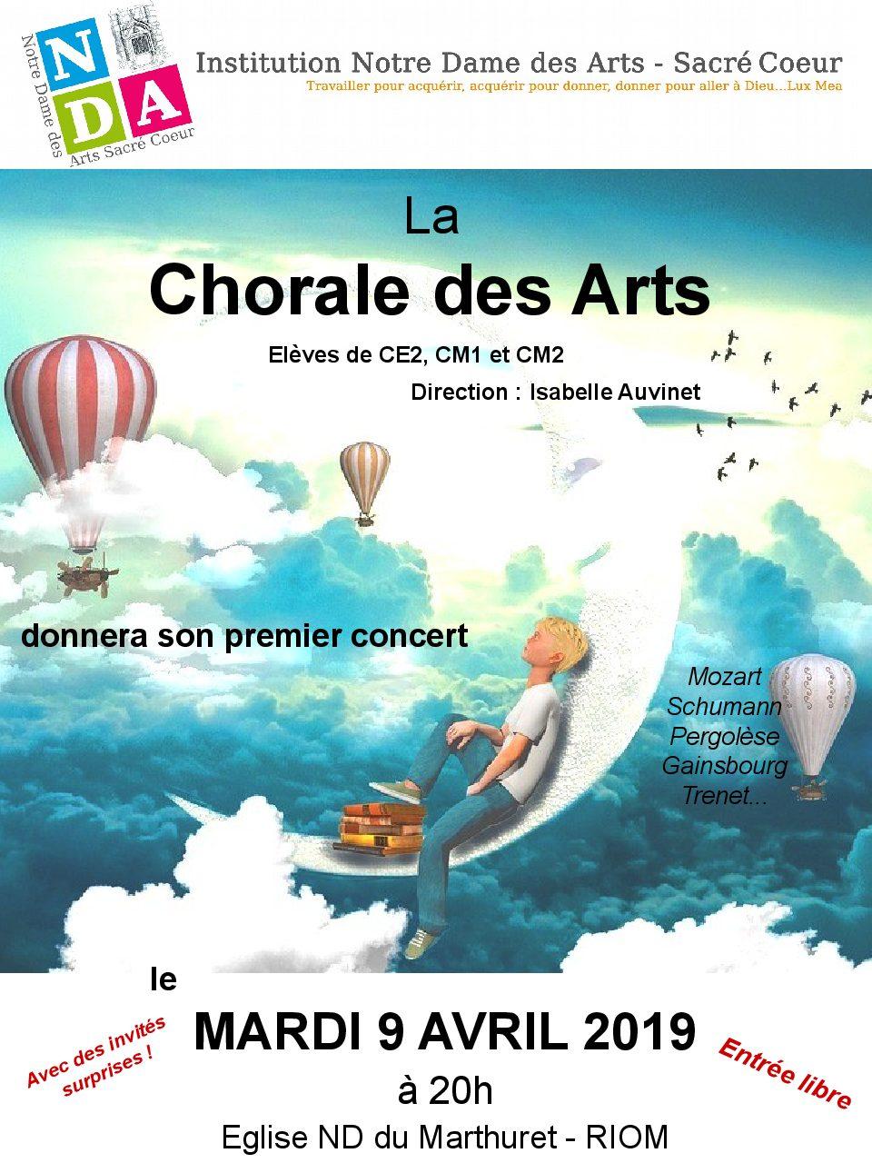 CONCERT DE LA CHORALE DES ARTS